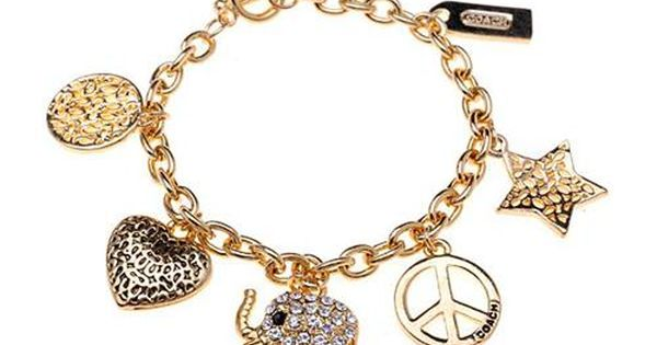 #ChooseEnjoyJewelry-COACH Coach Elephant Charm Gold Bracelets ALK Is Full Of Enchantment, Making