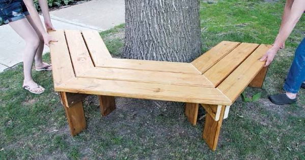 How To Build A Tree Bench Learn To Build Plans
