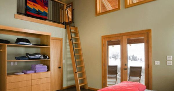 Cool bedroom with ladder