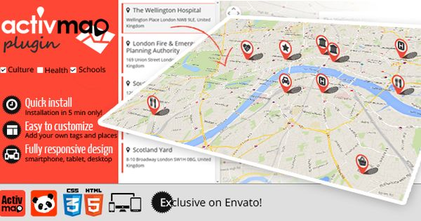 Activ Map Nearby Places Responsive Poi Gmaps Map Store Web