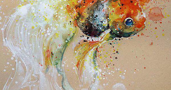Les aquarelles d animaux de tilen ti 3 dessin for Acheter poisson rouge 77