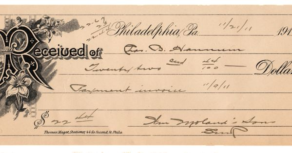 Advance Payment Invoice Sample Word Free Antique Ephemera Graphic   Invoice  Ephemera Blog  Payment Receipts Template Pdf with Ato Tax Invoice Excel Free Antique Ephemera Graphic   Invoice  Ephemera Blog Backgrounds  And Vintage Clip Art Where Can I Buy Rent Receipts