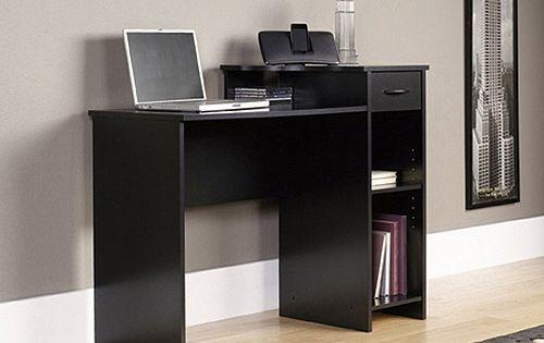 Mainstays Student Desk With Easy Glide Drawer Blackwood Finish Walmart Com Black Desk Student Desks Easy Glide Drawers