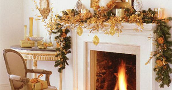 pinterest christmas decorating ideas | Christmas Mantel | Christmas Decor