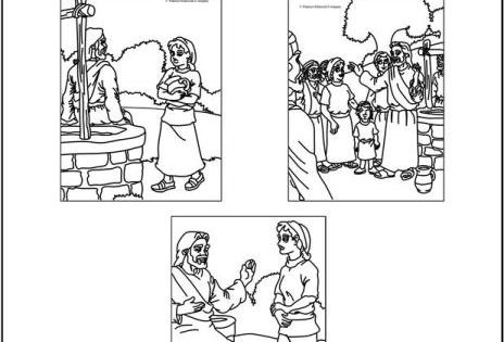 Samaritan woman at the well coloring pages coloring for Woman at the well coloring pages