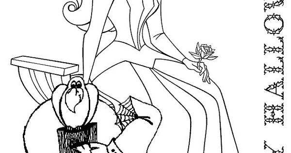 Princess Aurora halloween colouring sheet Coloring Sheets