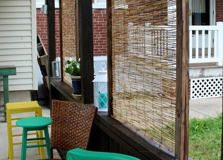 Diy bamboo privacy screen screens fencing and outdoor Bamboo screens for outdoors