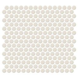 Daltile Fanfare Retro Rounds Rr05 Cream Soda 1 Inch Penny Round Glazed Porcelain Mosaic Tile Gloss Finish Daltile Penny Tile Cream Soda