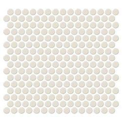 Daltile Fanfare Retro Rounds Rr05 Cream Soda 1 Inch Penny Round Glazed Porcelain Mosaic Tile Gloss Finish Daltile Penny Tile Cream Soda