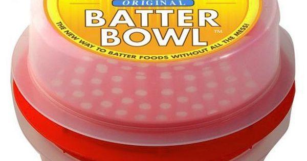 Cajun injector batter pro batter bowl use it to batter for Fish batter shaker