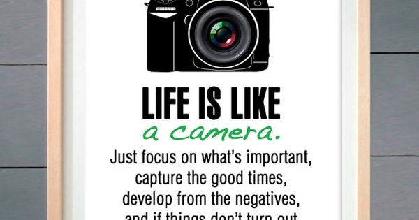 Life is like a camera ART PRINT various sizes by thepixelprince