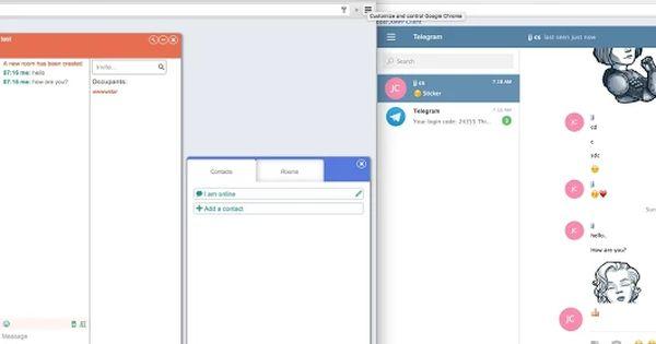 Telegram And Jabber Xmpp Messenger Bar Chart Chart Signs