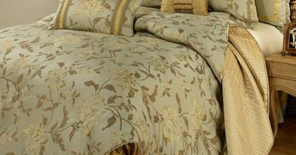 A Luxury Floral Bedding Collection In Hues Of Sage Green