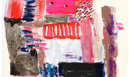 Jen Garrido paint art print pink