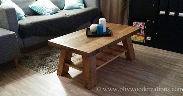 Une table basse en bois de palettes table basse pinterest tables - Table de salon en palette ...