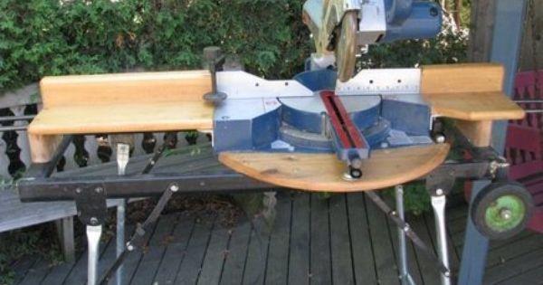 Homemade Portable Stand For My Ryobi Slide Compound Miter Saw Compound Mitre Saw Miter Saw Mitered