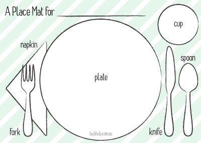 Kids Place Mat Guide Printable Printable Placemat Manners For Kids Placemats Kids