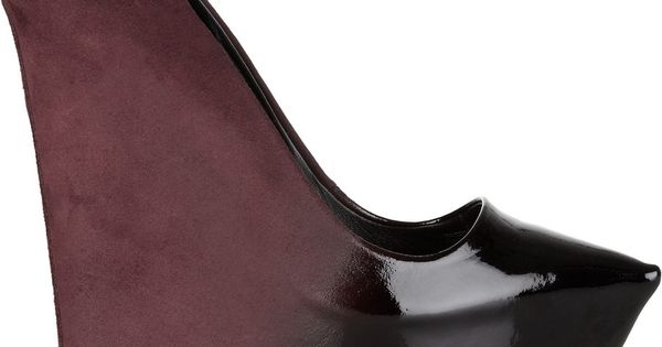 Theyskens' Theory patent-leather and suede ombré wedges shoes
