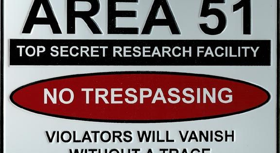 A overview of area 51 known as groom lake in las vegas