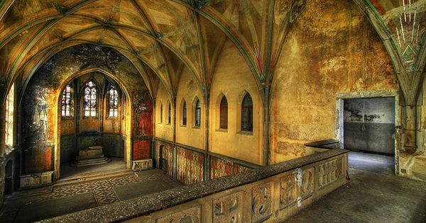 Convent with church A view inside an old empty convent in Germany