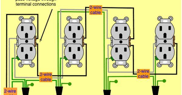 wiring diagram receptacles in series wiring diagram for
