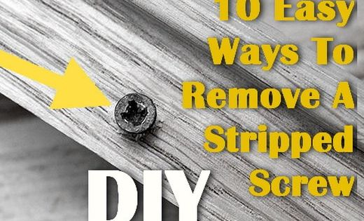 how to remove a stripped screw woodworking pinterest. Black Bedroom Furniture Sets. Home Design Ideas