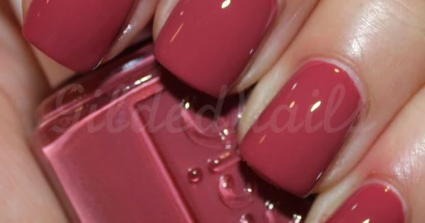 #essie raspberry red nails colors nailpolish manipedi manicure pedicure Christmas spring
