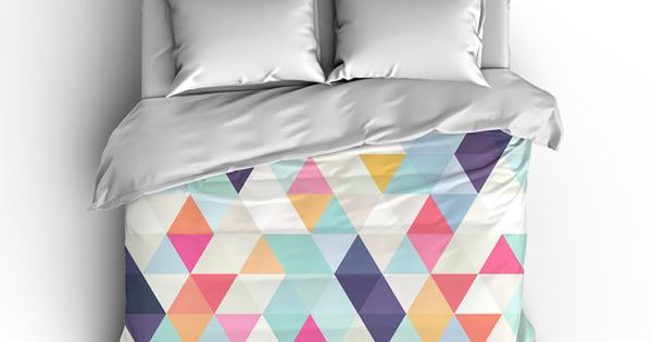 Colorful Triangle Geometric Duvet Cover Comforter Cover