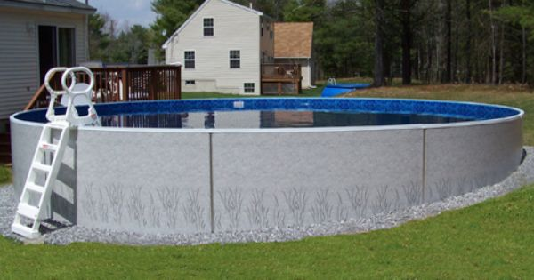Pool Built On Sloped Yard Above Ground Pool On Slope