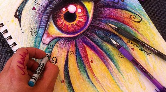 Amazing drawing with Crayons!