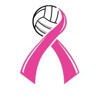 Pink Ribbon Volleyball Ribbons Google Search Volleyball Ribbon Volleyball Volleyball Locker