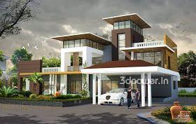 Ultra Modern Home Designs Home Designs House 3d Interior Exterior Design Rendering Modern House Design Kerala House Design Modern House