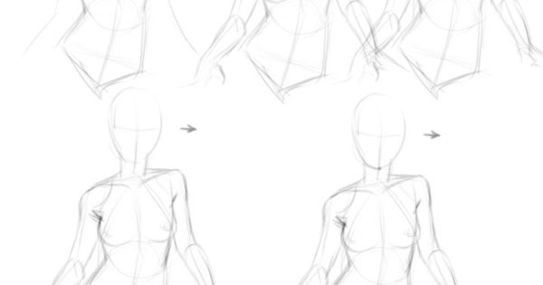 Female Character Design Tutorial : Drawing tutorials female torso breast character design