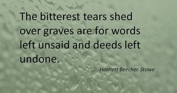 The Bitterest Tears... From An Episode Of Criminal Minds