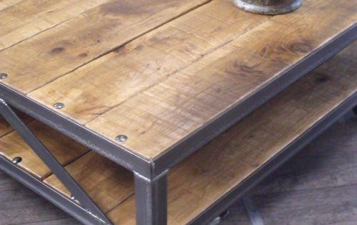 Table basse industrielle table basse loft table basse - Table basse metal industriel loft ...