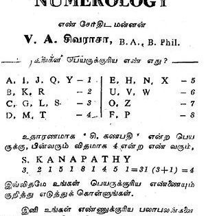 Tamil Numerology The System Of Numerology Is A Method Of Divination Numerology Calculation Numerology Numerology Life Path