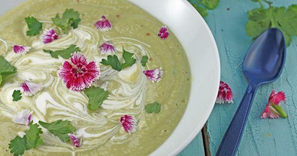Avocado soup, Soups and Avocado on Pinterest