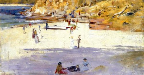 Manly Beach Arthur Streeton Manly Beach Australian Painters Australian Painting