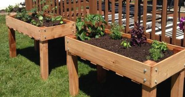 Counter Height Vegetable Garden : New counter height planters in use Do It Yourself Home Projects from ...