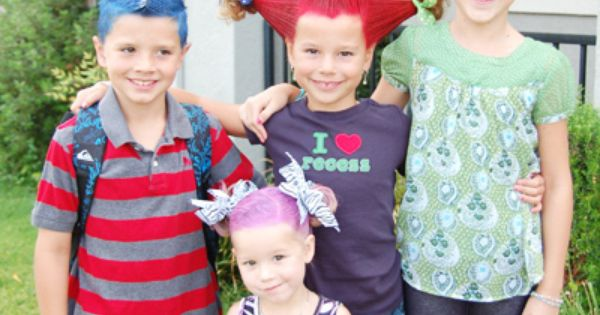 "Another pinner wrote, ""Crazy Hair Day ideas for kids, a lot of"