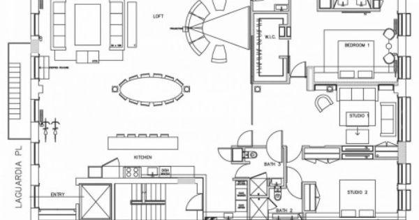 New york studio apartments floor plan with loft apartment for Apartment floor plans new york