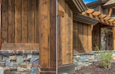 Ranchwood Barn Wood Siding And Timbers Wood Siding Exterior Mountain Home Exterior Wood Siding