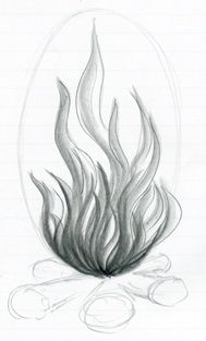 How To Draw Flames Dessin Noir Et Blanc Tatouage Flamme