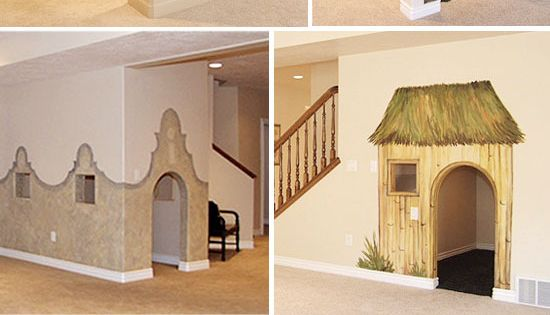 Would Love To Paint A Mural And Make A Fun Secret Kids Hideout In That Room Under The Stairs