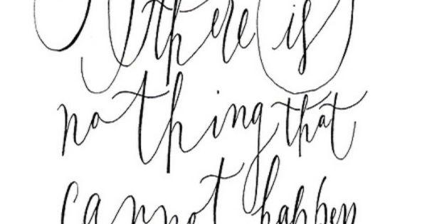 Love the script font