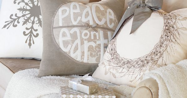 White Christmas throw pillows