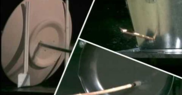 Arrow Hits Plate Water Bucket Frying Pan Arrow Hits Several Types Of Materials And Make A Hole In Them
