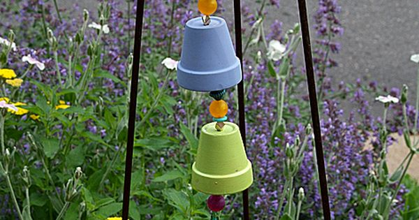 Flower pot wind chime: DIY garden craft project