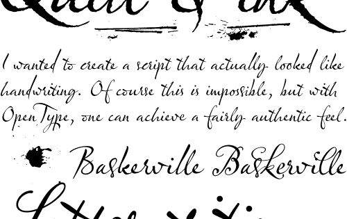 Quill And Ink Font Fonts, Quill an...