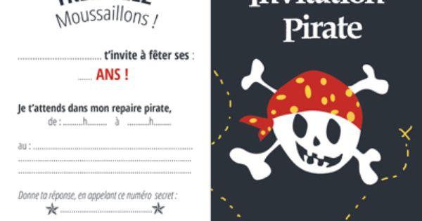 Invitation pirate gratuite sympa la petite t te de mort qui ne fait pas peur parfait pour les - Invitation anniversaire garcon pirate ...